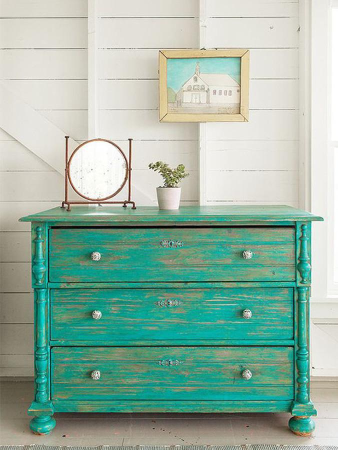 Foto chalk paint sinfonier verde 1469856 habitissimo - Pintar muebles chalk paint ...