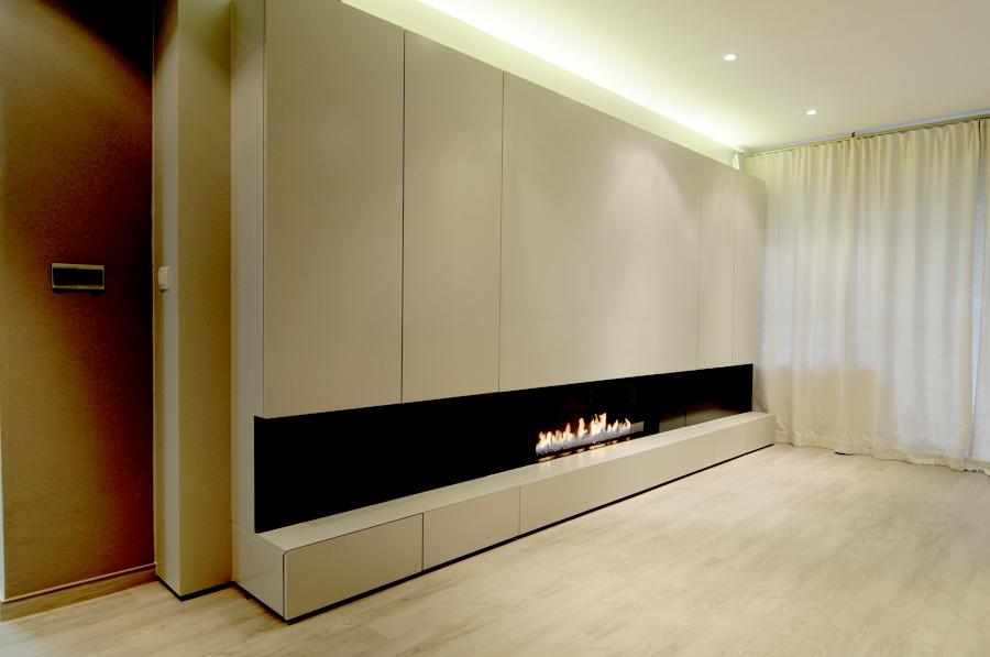 Chimenea de gas ideas chimeneas - Muebles de salon con chimenea integrada ...