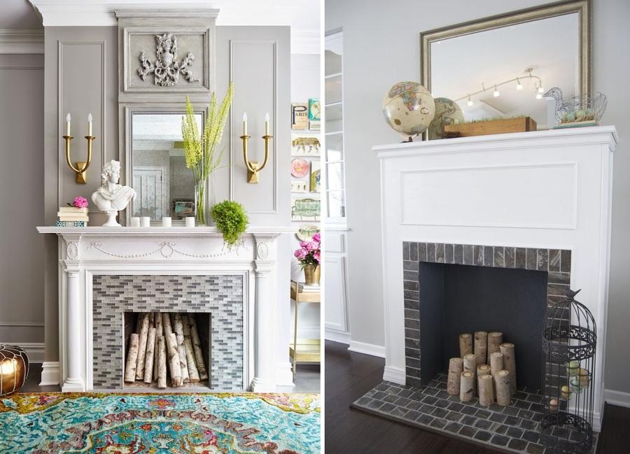 Todo lo que puedes hacer con tu chimenea este verano ideas decoradores - Embocaduras de chimeneas ...