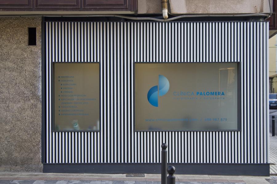 Clínica Fisioterapia Palomera - Fachada corta