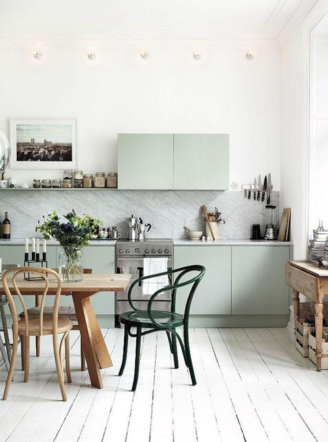 silla Cocina verde