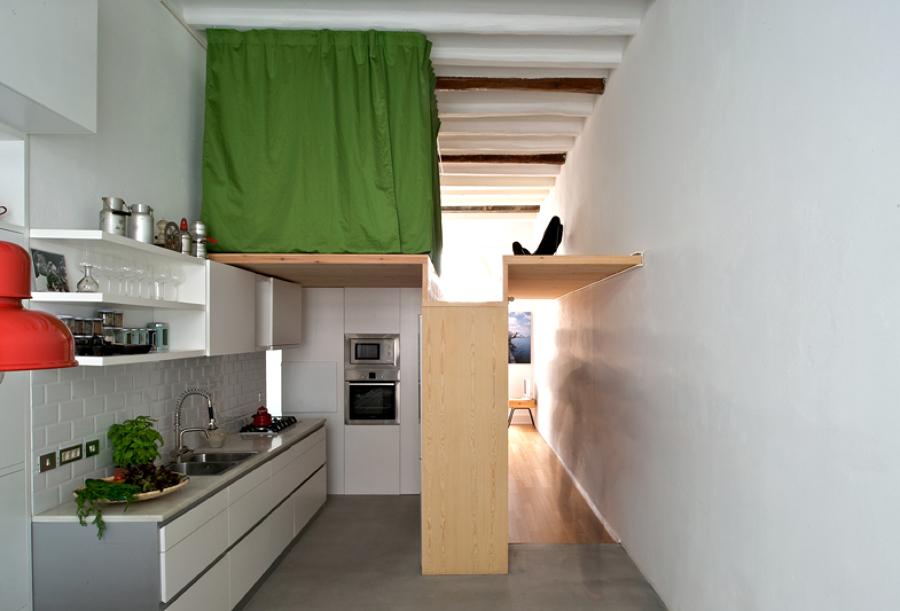 cocina a doble altura