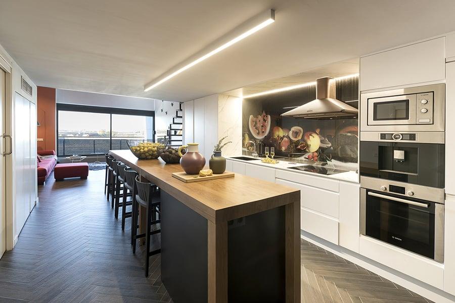 Cocina a medida loft
