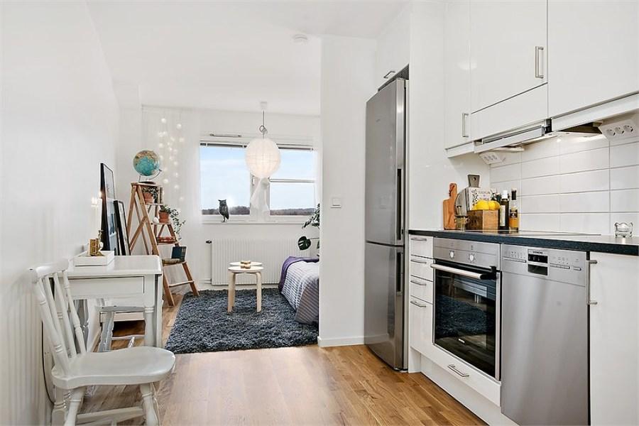 5 pisos peque os que te inspirar n a cambiar el tuyo for Cocinas abiertas al pasillo