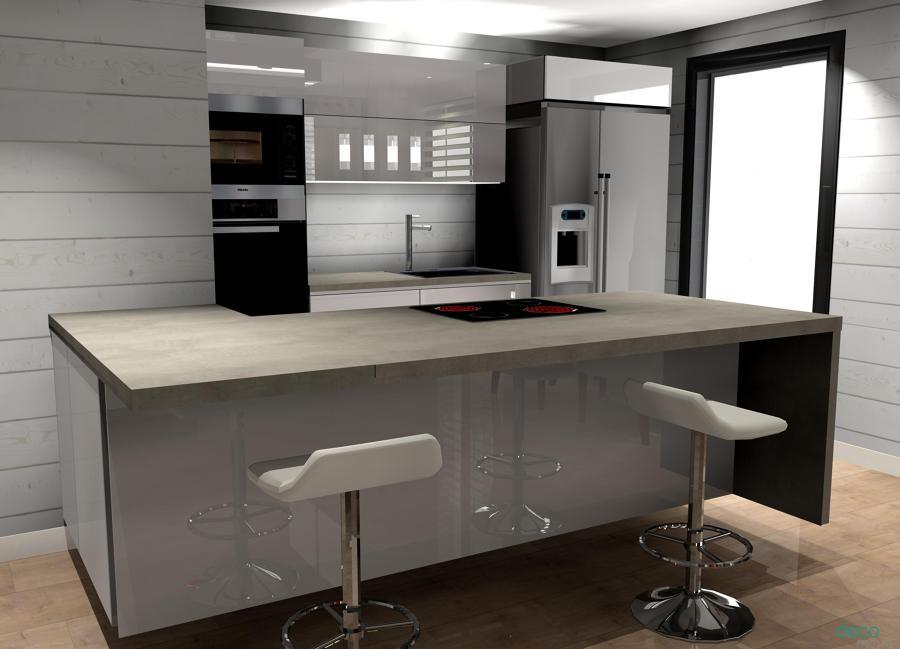 Cocina abierta al sal n valdebebas ideas reformas cocinas for Cocina abierta modelo salon