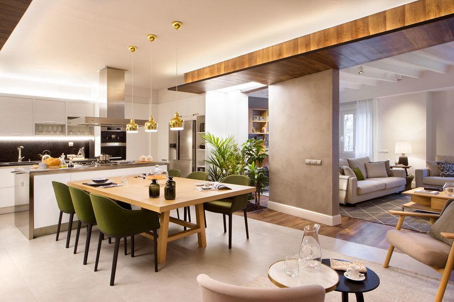 Foto cocina abierta comedor de egue y seta 1200161 for Cocina y salon integrados