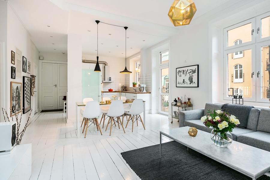 Foto cocina abierta con nevera smeg verde agua de marta 884603 habitissimo - Cocinas estilo nordico ...