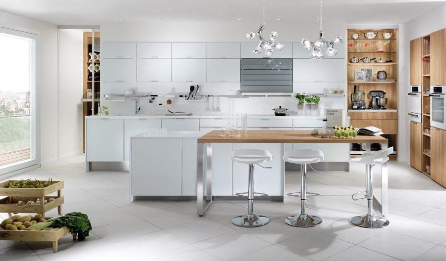Cocina abierta de estilo moderno