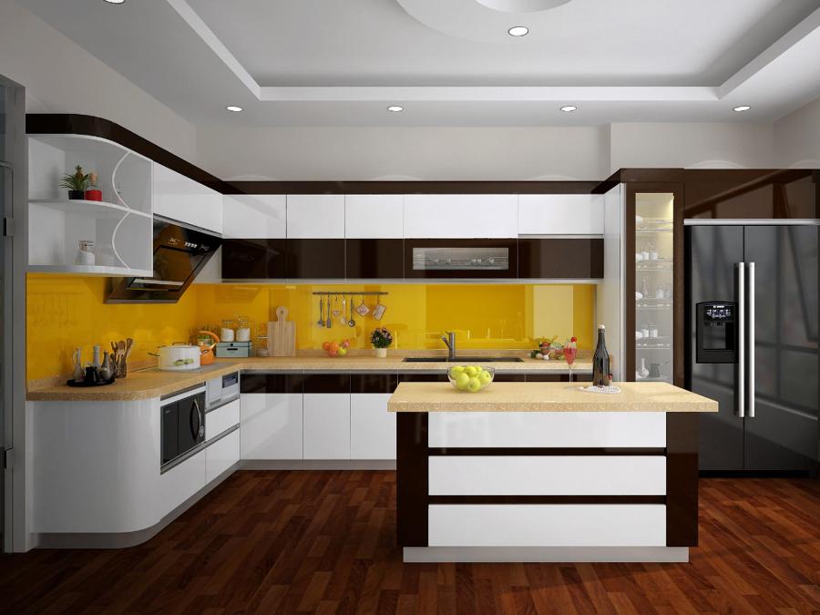 Cocina amarilla y negra