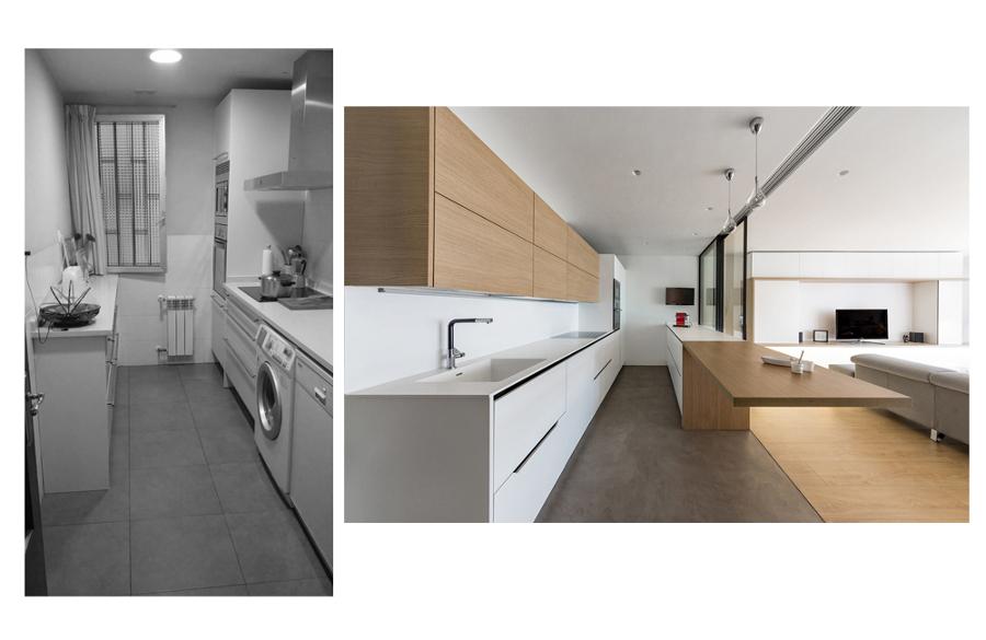 Cocina, antes y después