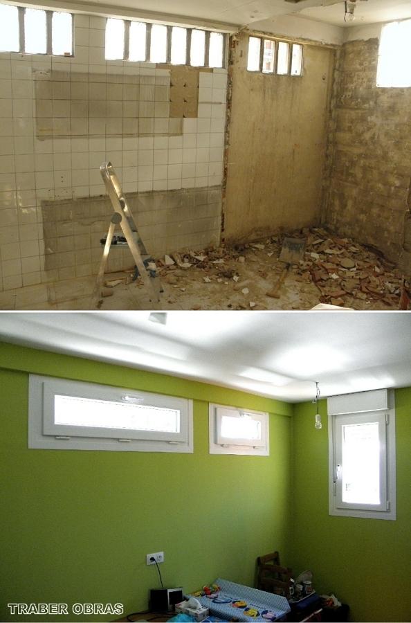 Cocina: antes y después de la reforma.