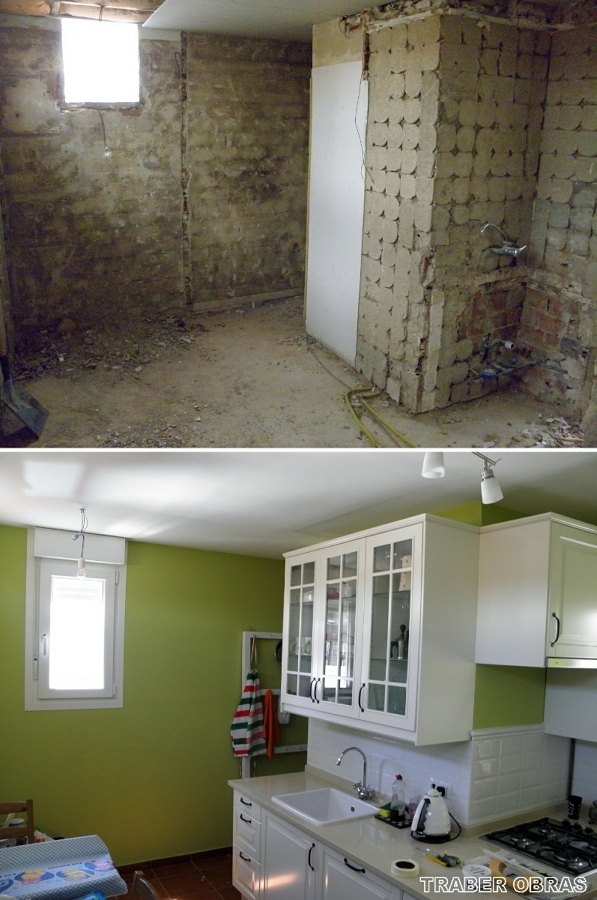 Reforma integral de vivienda en madrid centro por traber - Reformas de cocinas antes y despues ...