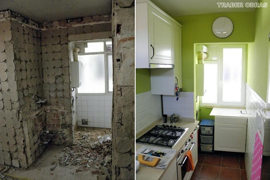 Reforma integral de vivienda en madrid centro por traber for Fotos reformas cocinas