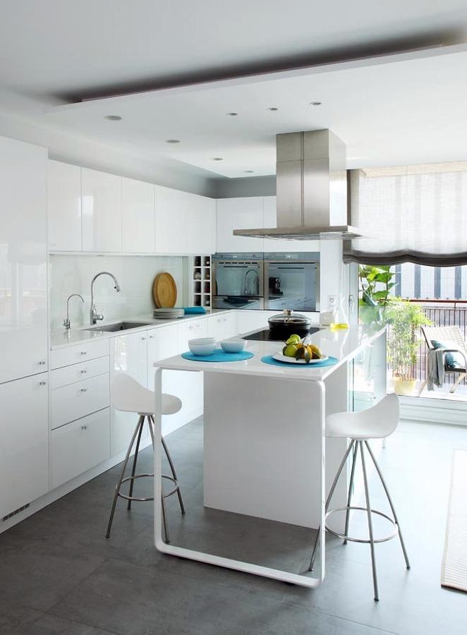 Ventajas y caracter sticas de los muebles de cocina - Cocina blanca con encimera blanca ...
