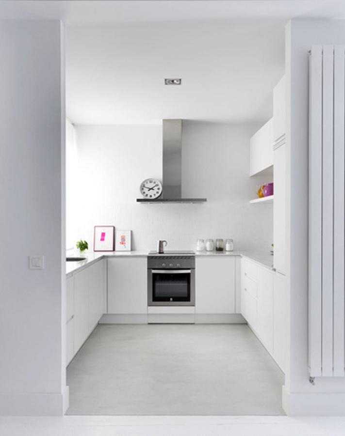 Ante cielos grises una casa llena de luz ideas arquitectos - Cocinas en forma de u ...