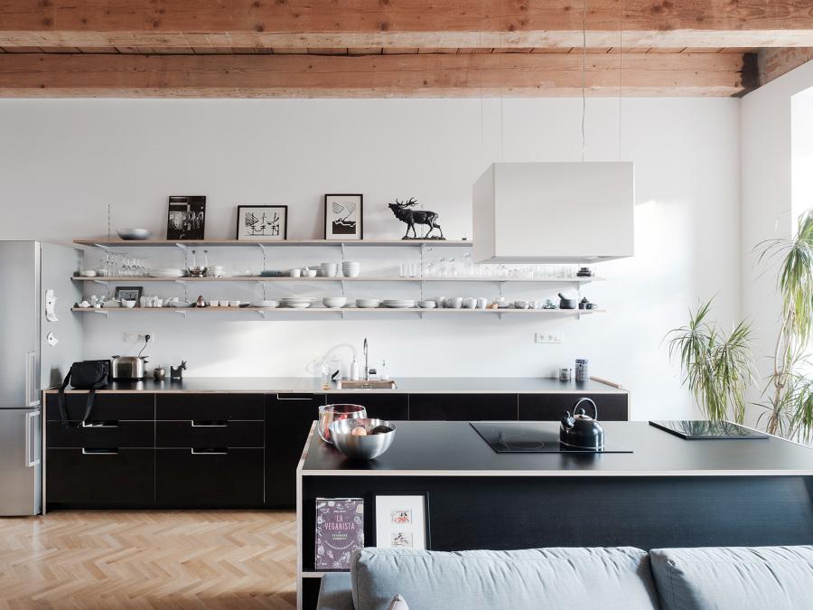 cocina compartiendo espacios