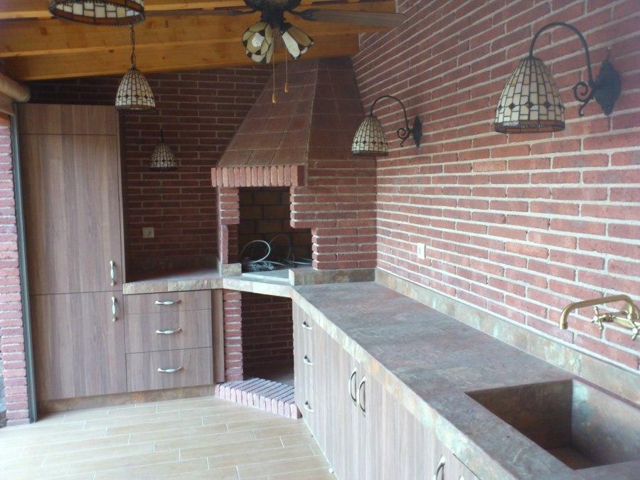 caseta de jard n con cocina completa ideas construcci n On caseta de jardin en la esquina derecha