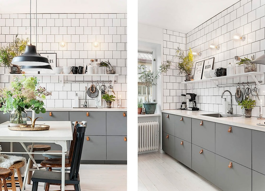 Foto cocina con azulejos blancos de miv interiores for Cocina con azulejos blancos