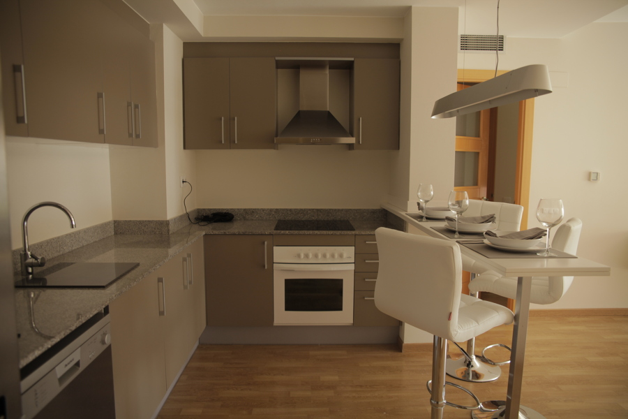 Foto cocina con barra americana de puzzle 791248 - Barras americanas para cocinas pequenas ...