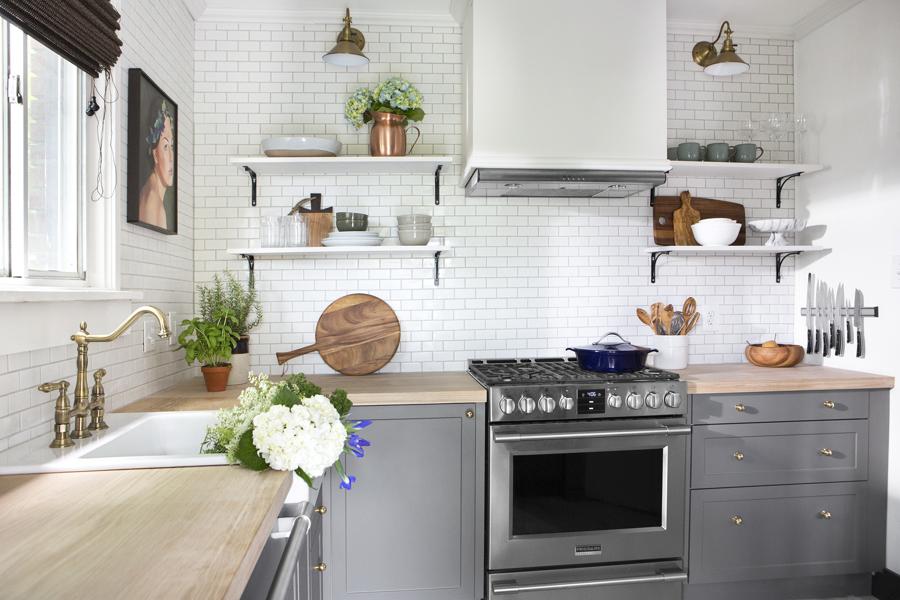6 Formas de Organizar una Cocina sin Armarios | Ideas ...