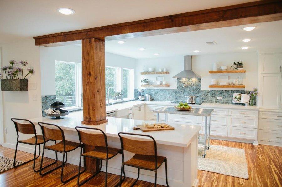 10 ideas para disimular un pilar y salir ganando ideas - Como forrar muebles de cocina ...