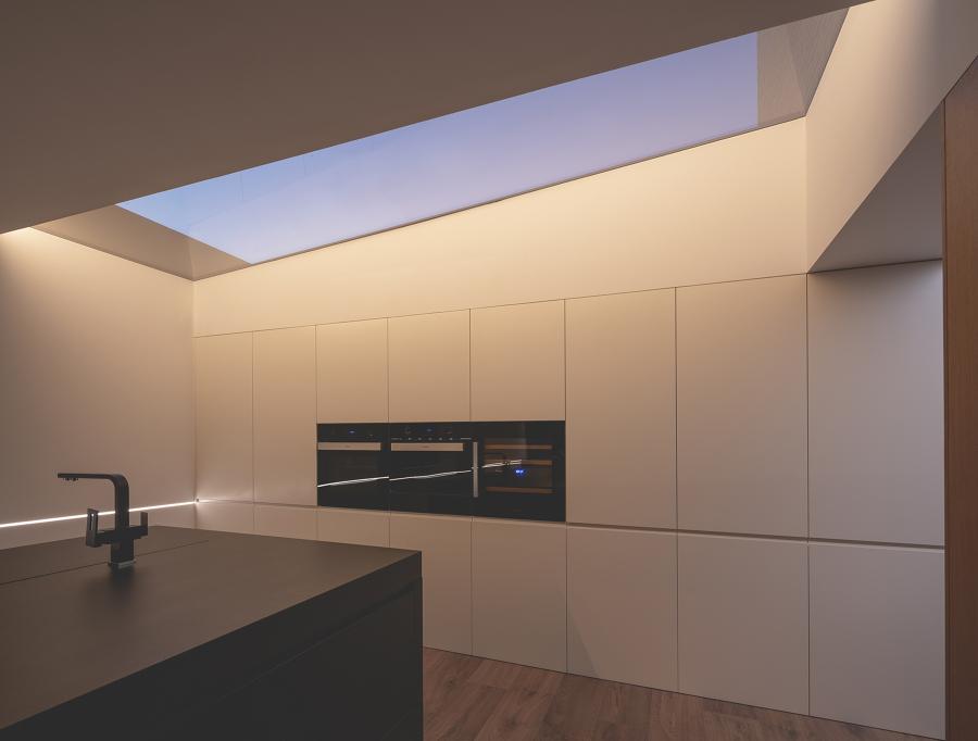 Cocina con lucernario