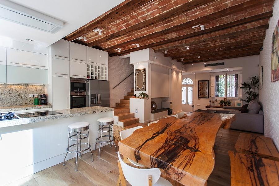 Famoso Mesa De La Cocina Rústica Molde - Ideas de Decoración de ...