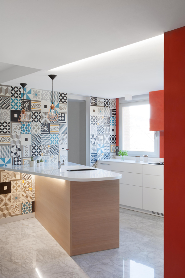 Foto cocina con paredes de mosaicos de gabri garcia - Cocinas con mosaico ...