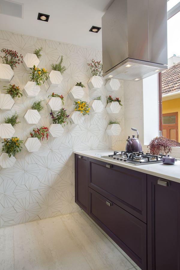 Cocina con plantas