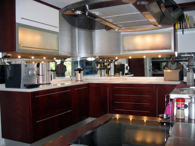 Fabricaci n y montaje de cocina de cerezo liso proyectos - Montaje de cocina ...