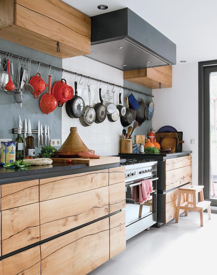 Foto cocina de madera en un frente de maribel mart nez - Frentes de cocina baratos ...