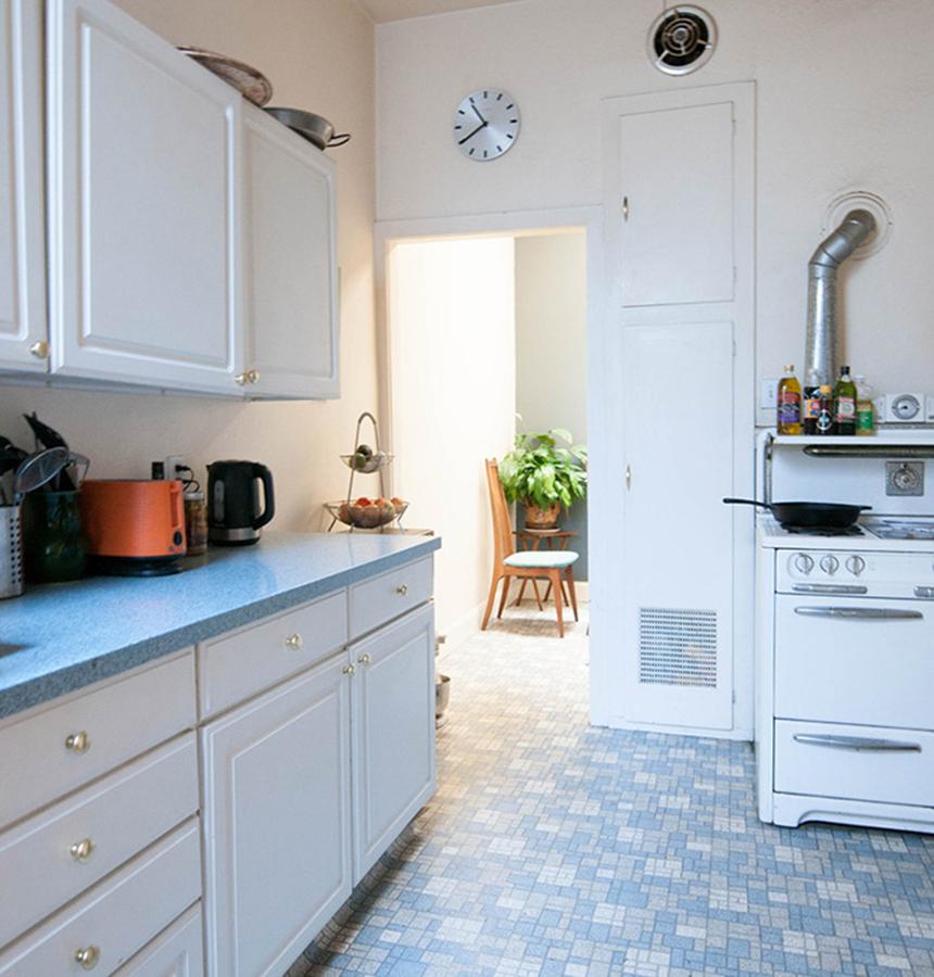 Cocina en azul serenidad