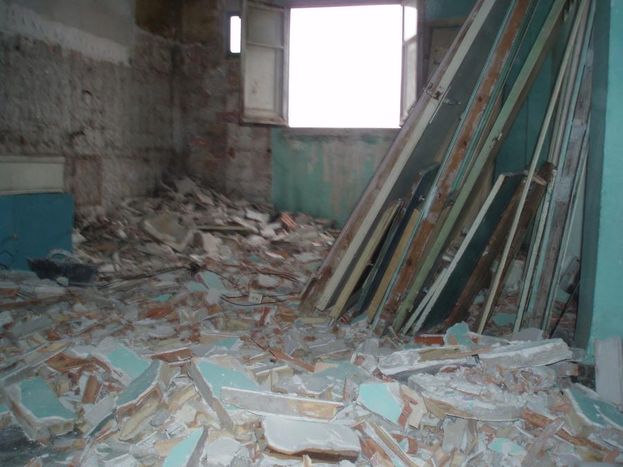 cocina en demolición
