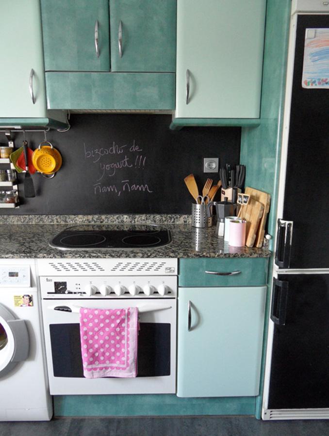 El incre ble antes y despu s de 5 cocinas sin obras - Paredes de cocina sin azulejos ...