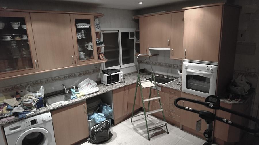 Cocina, estado inicial.