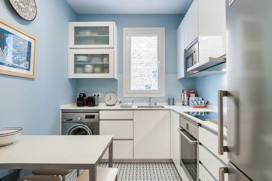 Cocina estilo nórdico y en azul