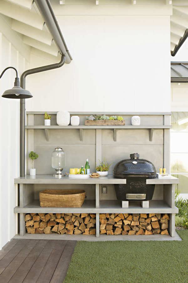 Foto cocina exterior barbacoa de boho chic 879370 - Barbacoa exterior ...