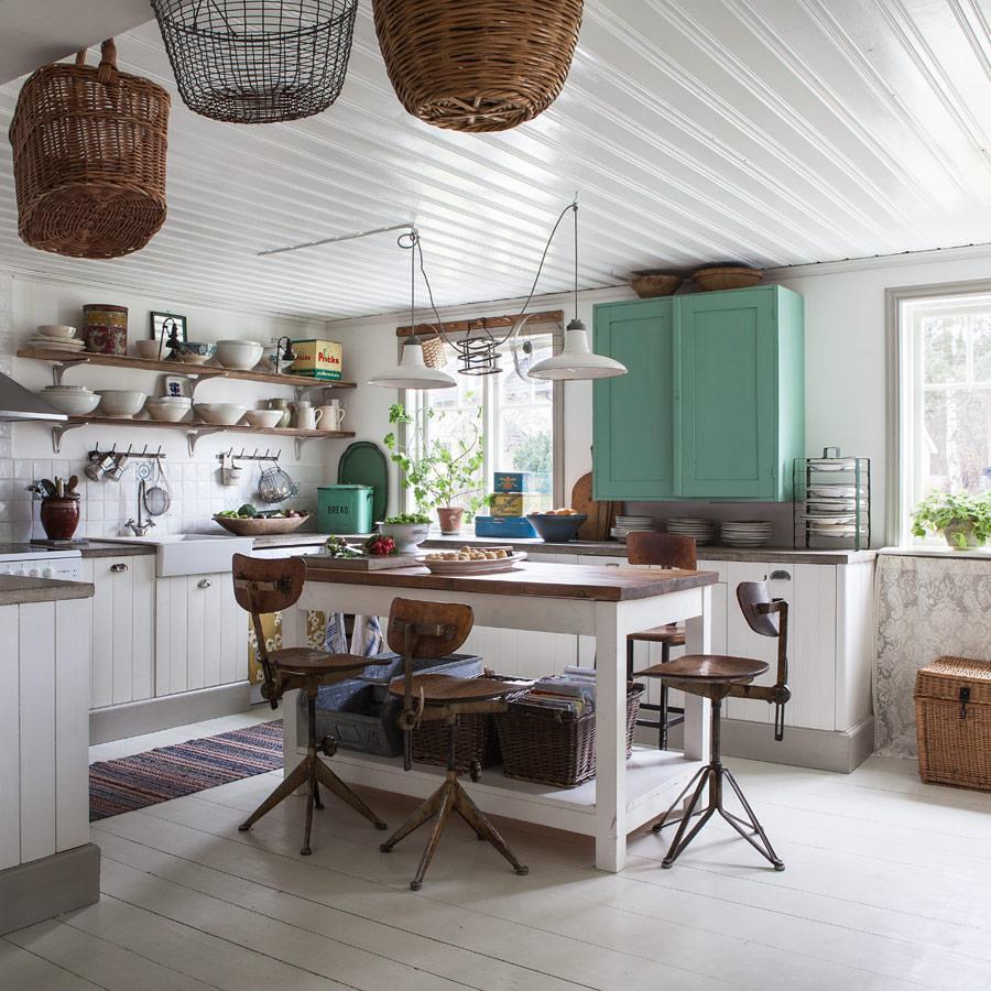 6 formas de dar a tu cocina un toque vintage ideas for Material cocina industrial