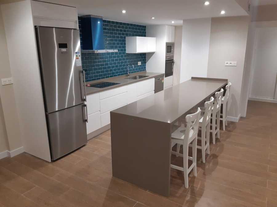 Cocina integrada en el espacio