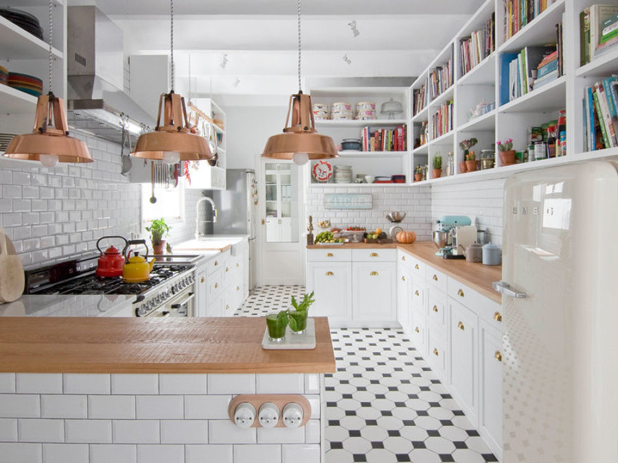Foto: Cocina Lámparas de Cobre de Miv Interiores #1244481 - Habitissimo