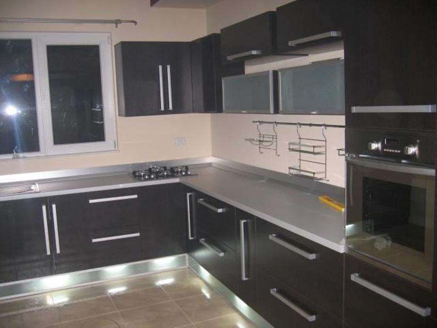 Foto cocina marr n chocolate de l o q u i l o h a 773545 - Pintar azulejos de cocina ideas ...