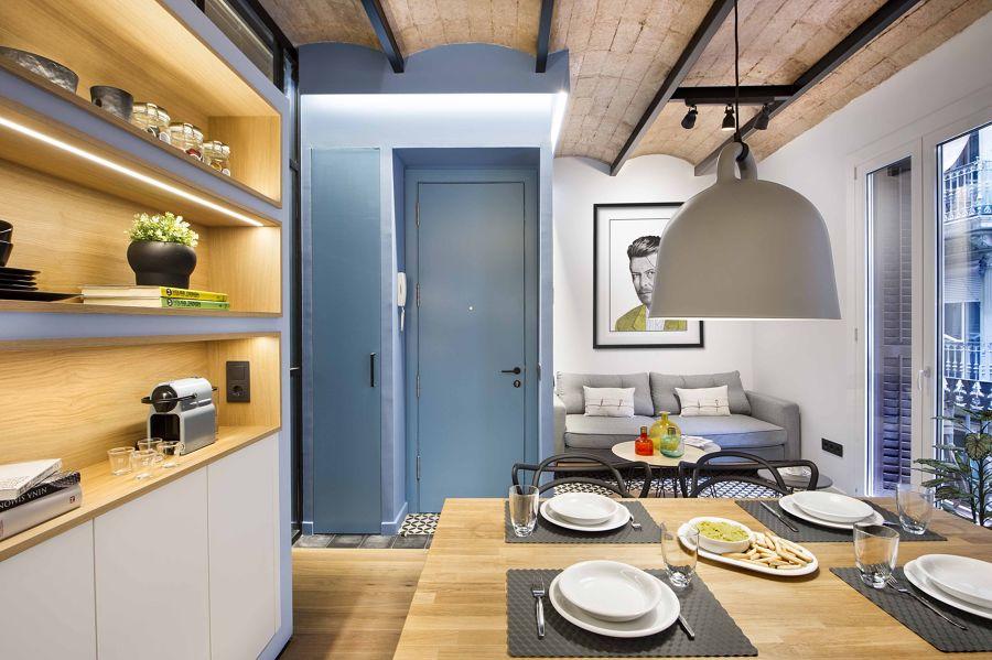 Cocina moderna abierta al salón