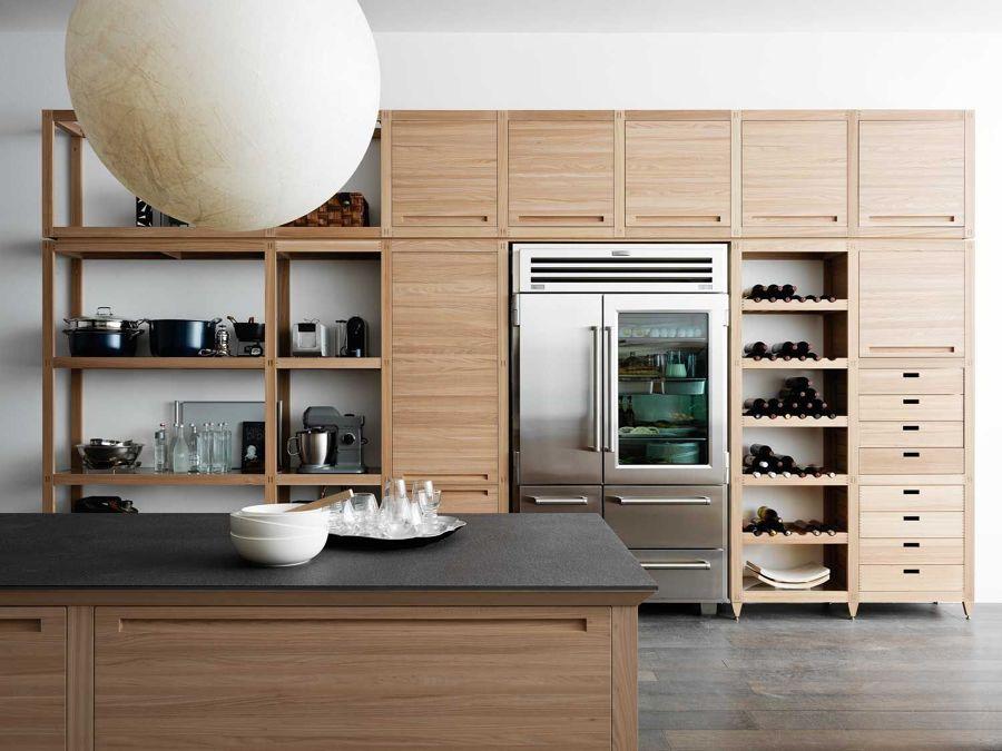 Cocina moderna con gran capacidad de almacenaje