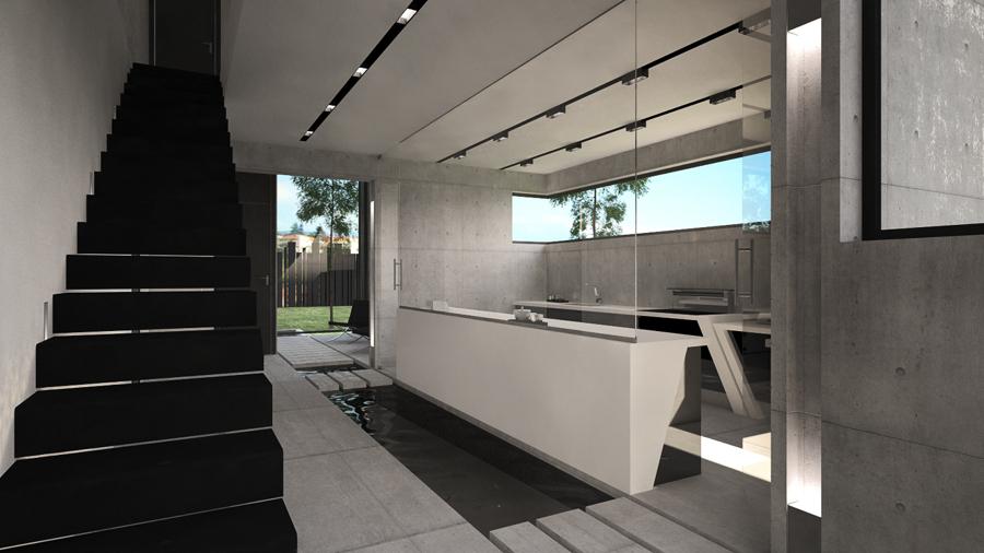 Dise o de vivienda unifamiliar con estilo minimalista ideas construcci n casas - Iluminacion para cocinas modernas ...