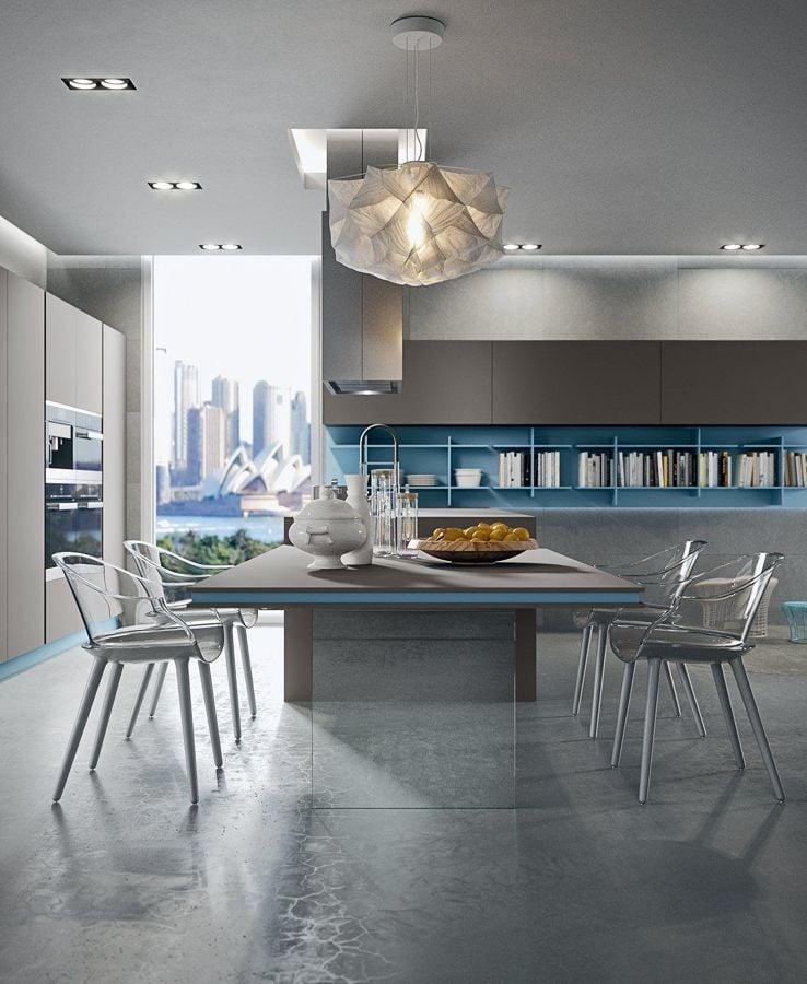 Cocina moderna en classic blue