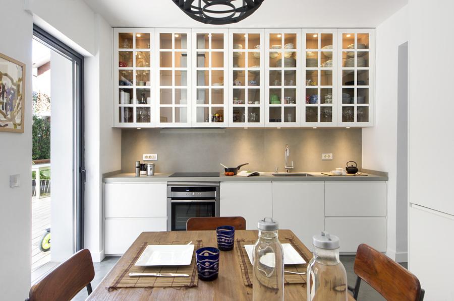 Cocina moderna y rústica a la vez