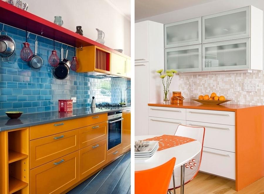 Cocinas a todo color ideas decoradores - Cocina blanca y naranja ...
