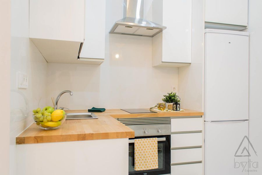 Cocina pequeña y funcional