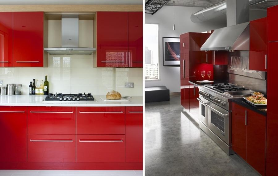 Foto cocina roja de miriam mart 903070 habitissimo - Catalogos cocinas granada ...