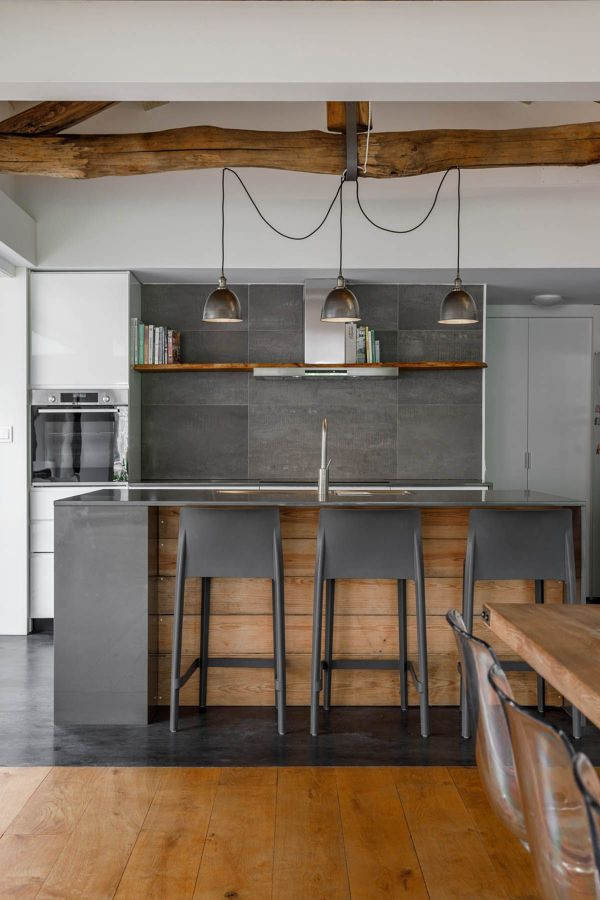 Cocina rústica moderna